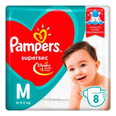 Pampers Pañal Supersec Regular Talle M