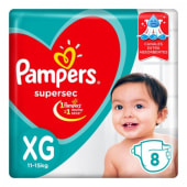 Pampers Pañal Supersec Regular Talle Xg