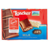 Loacker, cioccolato al latte e wafer 50 g