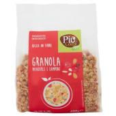 Più Cereali Bio, granola mandorle e lamponi biologico 400 g