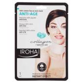 Iroha Nature, maschera 100% cotone anti-età viso e collo 30 ml