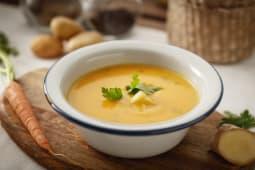 Supa crema de morcov cu ghimbir