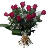 12 Rosas Rojas Tallo Medio