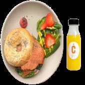 Bagel Sueco + Zumo De Naranja