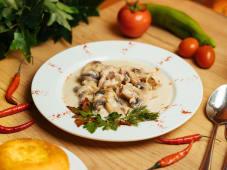 Филе куриное с грибами (200 гр.)