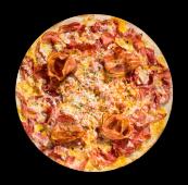 Pizza dulce y bacón con provolone