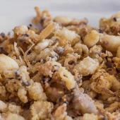 Chopitos fritos con pimientos de padrón