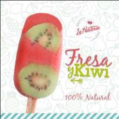 Paleta de fresa y kiwi