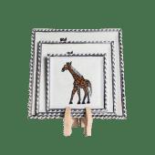 Soapstone Giraffe Plate Set