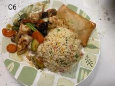 C6 - Arroz Chao Chao com Chop Suey de Gambas + 1 Crepe Chinês