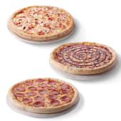 3 pizzas familiares