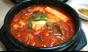 Spicy Kimchi Stew (with rice)
