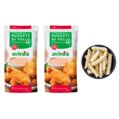 Combo 2 nuggets premium + Papas pre cocidas 400g