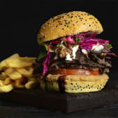 Hamburguesa de carne de shawarma