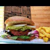 Hamburguesa vegana + patatas