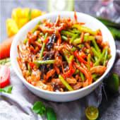 Tiras de lomo de cerdo con salsa de YuXiang
