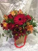 Caja flores primavera con rosas