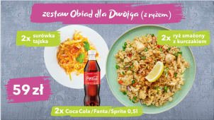 Zestaw ThaiWok obiad dla dwojga z ryżem