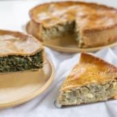 Pastel de alcachofa con harina integral (6-8 porciones)