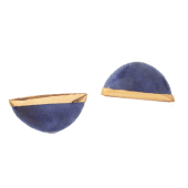Orecchini Mezzaluna - blu