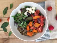 Bowl mediterráneo (vegano y sin gluten)