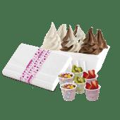 Helado (1 lt.) + 6 toppings a elección