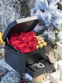 Flower box stakleno srce