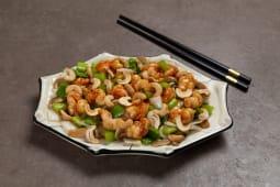 Chop suey de camarón
