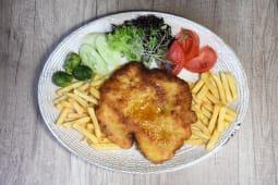 Pork schnitzel with a Side Dish