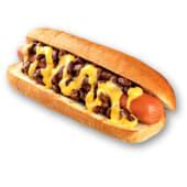 Combo chilli dog + papas o aros de cebolla + bebida
