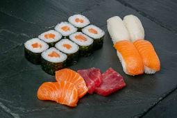 Combo sushi y sashimi W7 (16 pzas.)