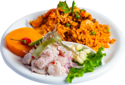 Combo 6 - ceviche de pescado + arroz de mariscos