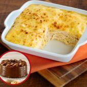 Paq. Lasagna de Pollo 4 porc. + Torta Pequeña