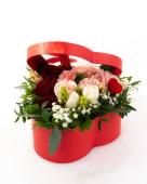 Cutie inimă roșie