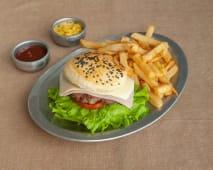 Hamburguesa clásica + papas fritas