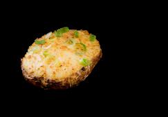 Cartof copt umplut cu smântână si ceapă verde