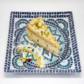 Tarta de ricotta de bufála y pistacchi