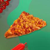 Pizza cu sunca si porumb