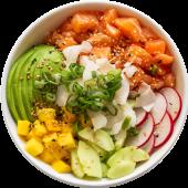 Poke de quinoa y salmón