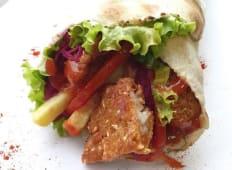 Kebab cu snitel de peste