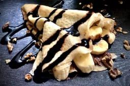 Французький креп цукор Паста горіхова та банан