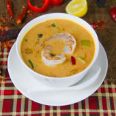 Shrimp Tom Yam soup with coconut milk