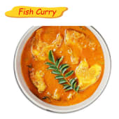 Fish curry with accompaniment