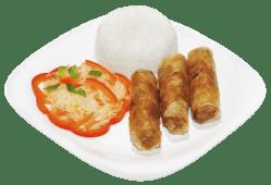 Sajgonki wieprzowe z ryżem 3szt.