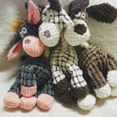 soft squeaky rope necked toys