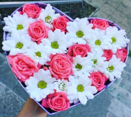 Box Roses Blanc et Rose