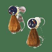 Orecchini Goccia - blu
