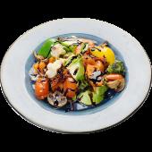 Салат-гриль из овощей с бальзамическим кремом
