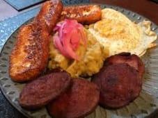 The Mangu Caribbean Breakfast with a Hibiscus - Sorrel Juice