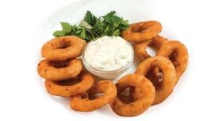 Цибулеві кільця з сирним соусом (250г)